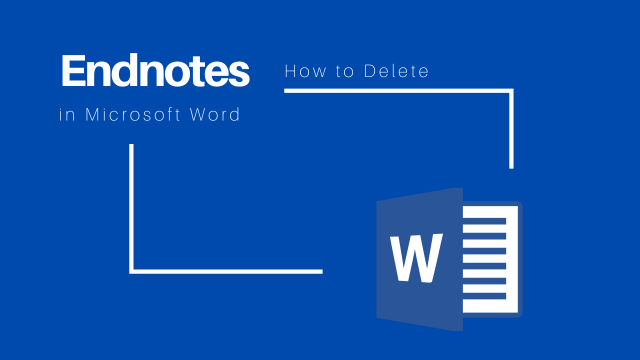 delete endnote in Word