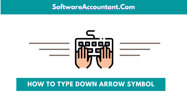 how to get the Down arrow symbol on keyboard