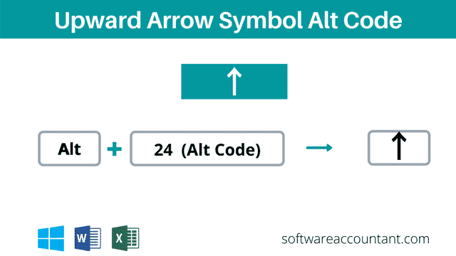Up arrow keyboard shortcut or Alt code for Windows