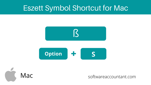 ß Eszett or sharp s symbol shortcut for Mac