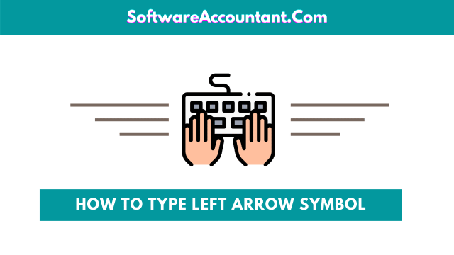 how to make left arrow sign on keyboard