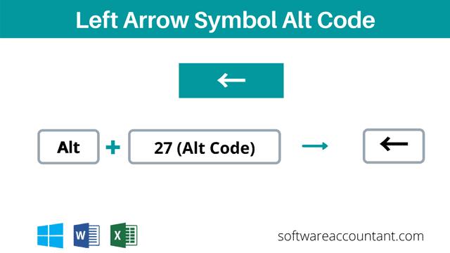 Left Arrow alt code + keyboard shortcut