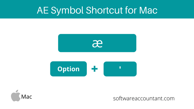 ae symbol shortcut for Mac