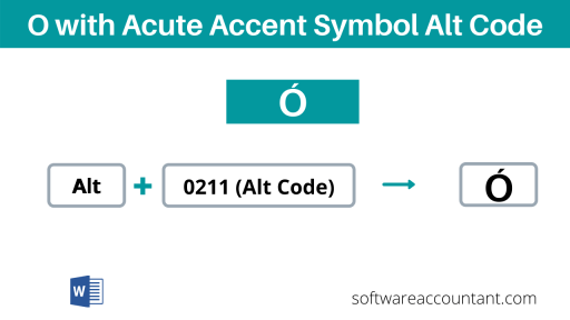 o with accent alt code shortcut on keyboard