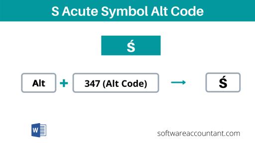 s with acute accent alt code shortcut