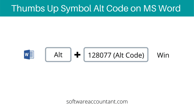 thumbs up symbol Alt code for Word