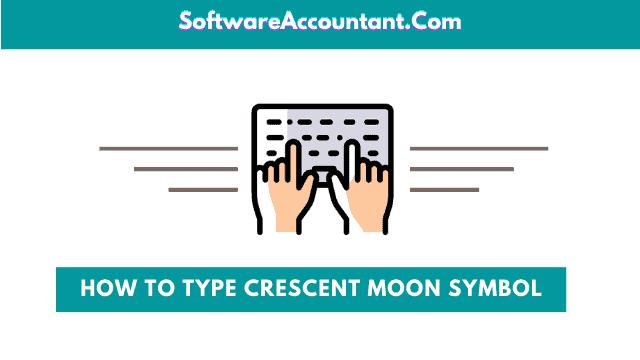 type crescent moon symbol