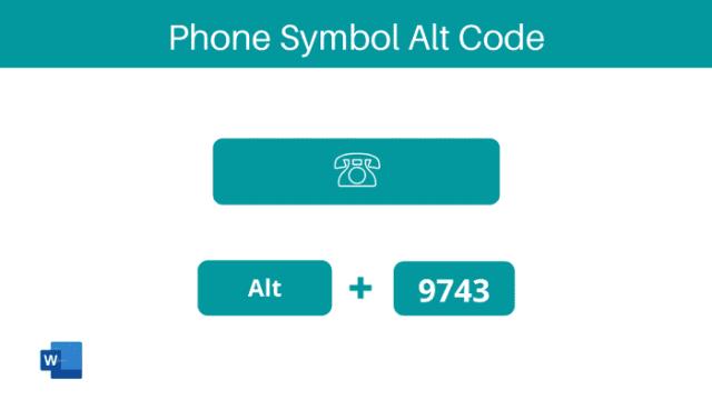 Phone symbol alt code