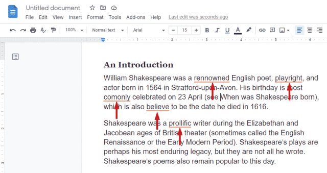 How Grammarly catch errors in Google Docs