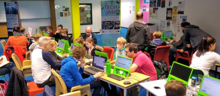 Tech Jam in Pool provides anyone with the opportunity to learn to code  on a Raspberry Pi computer.