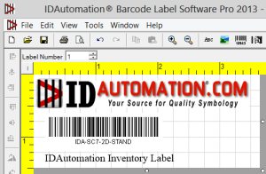 IDAutomation Barcode Label