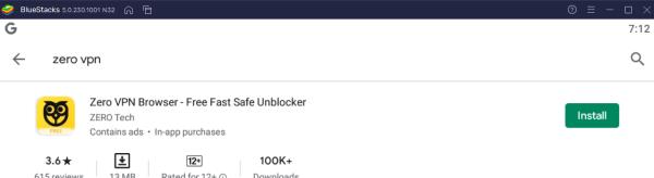 Download Zero VPN For PC