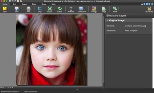 NCH PhotoPad Image Editor