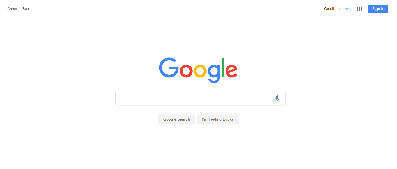 Google Chrome Home Screen