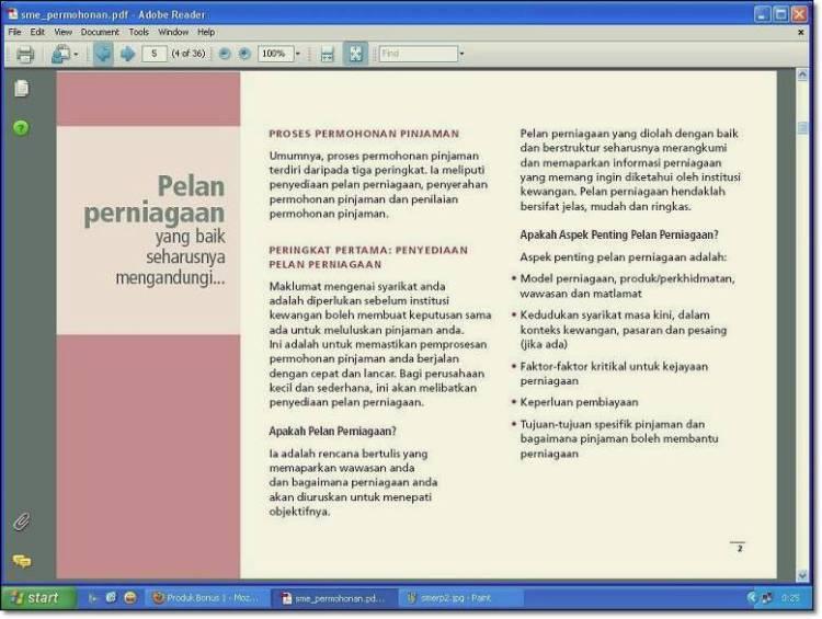 contoh format rancangan perniagaan