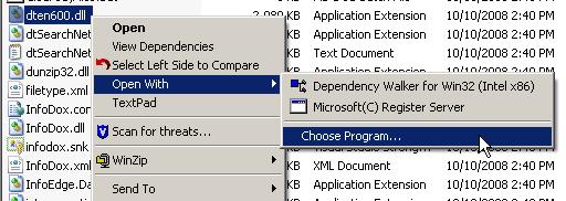 Associate RegSvr32 with DLL Extension - Step 1