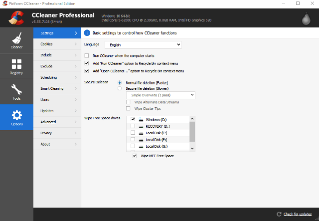 CCleaner Pro 5.62 Crack With License Key Final 2019 Torrent {Win/Mac}
