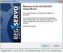 RegSERVO Crack 2017 Activation Key Full Free Download