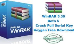 WinRAR 5.30 Beta 5 Crack Full Serial Key Keygen Free Download