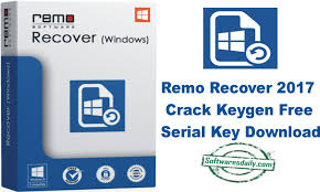 Remo Recover 2017 Crack Keygen Free Serial Key Download