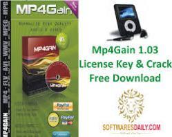 Mp4Gain 1.03 License Key & Crack Free Download