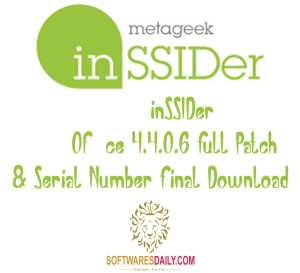 inSSIDer Office 4.4.0.6 Full Patch & Serial Number Final Download