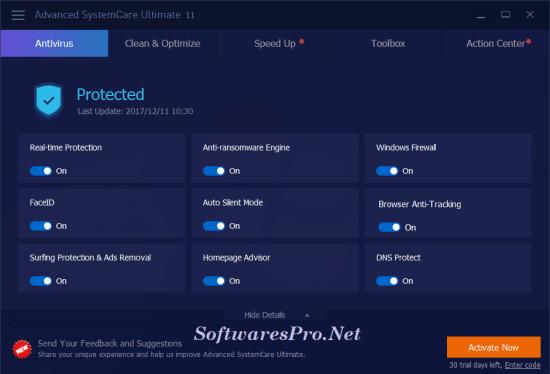 Advanced SystemCare Pro 11.4 Crack