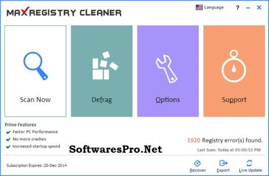 Max Registry Cleaner 6.0.0.071 Crack