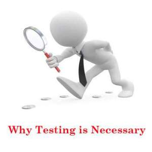 Why Testing is Necessary