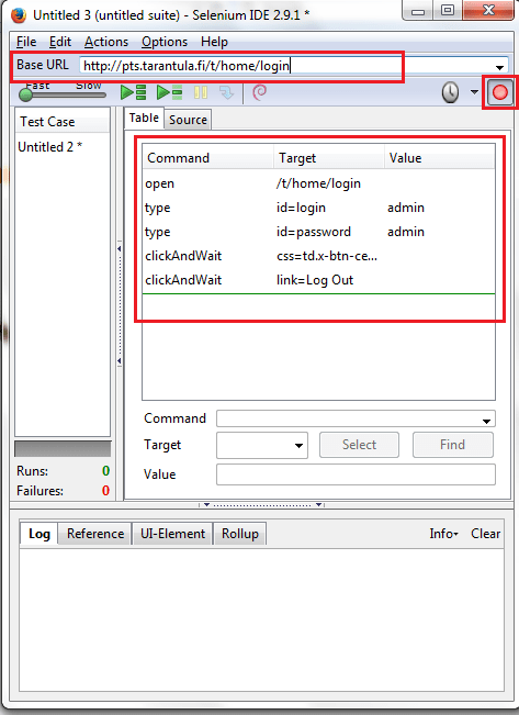 Selenium IDE | Login Script - Software Testing Books