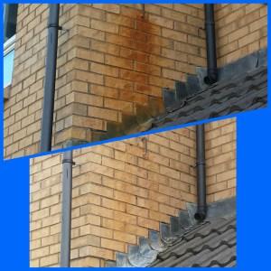 Rust removal from brickwork in Edinburgh