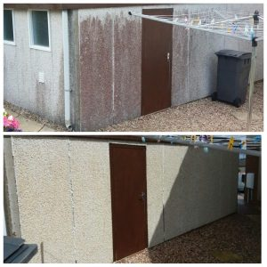How to clean roughcast or k-Render in central scotland