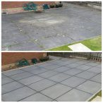 www.softwashscotland.com Slab Patio Area's Cleaning Bathgate West Lothian softwash scotland