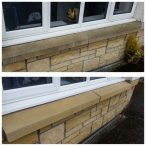 www.softwashscotland.com image of sand stone window sill cleaning