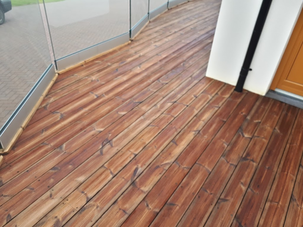 Yellow Balau Wood Decking Cleaning & Restoration using Owatrol products