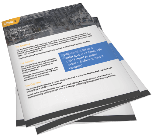 Preview of email security in the manufacturing sector case study