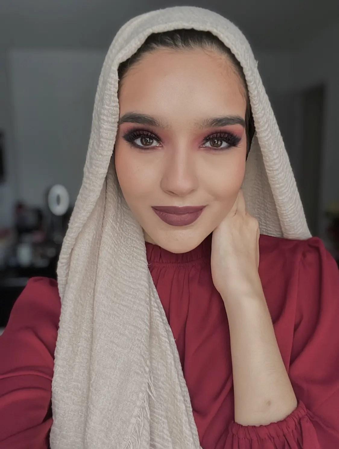 Valentines day makeup Night look
