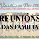 reuniones con las familias acogedoras de vacaciones en paz 2017