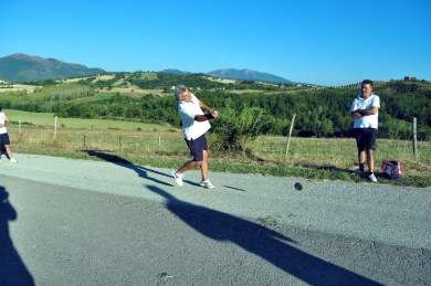 athletic game in italy nocera umbra countryside