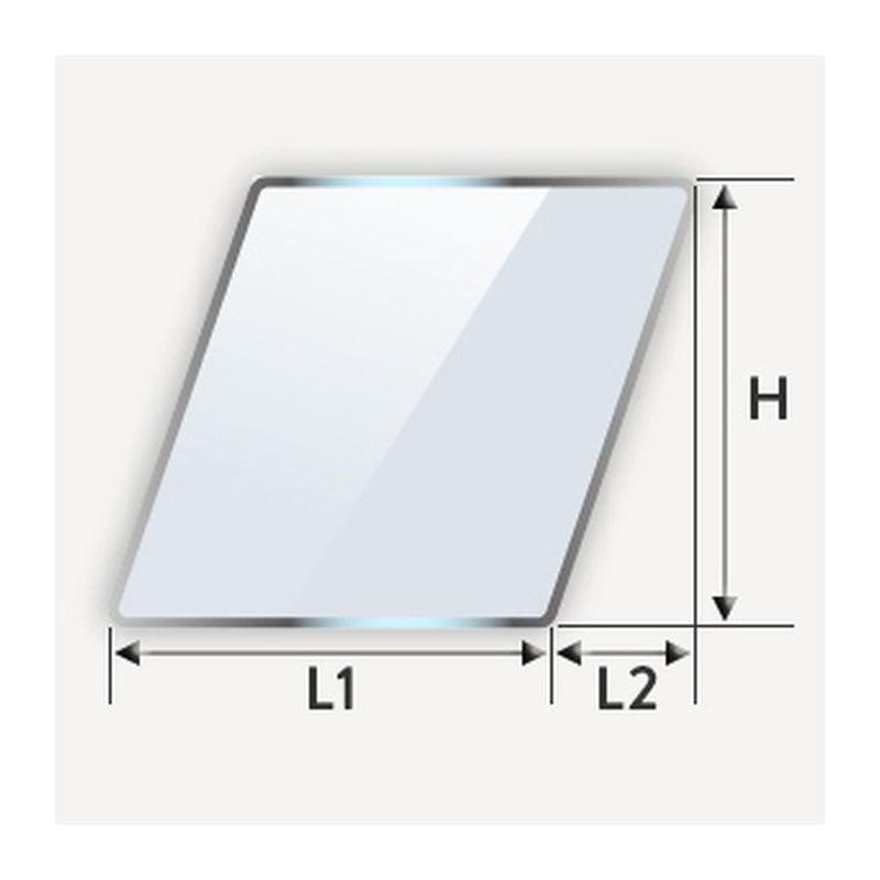 verre trempe en parallelogramme