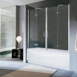 pare baignoire en verre trempe carre rectangle