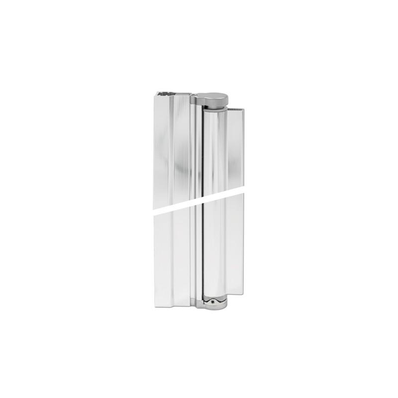 charniere pour profile 8mm pour pare douche verre mur fixation a 90 soglass