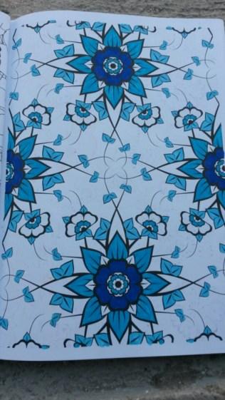 Coloriage nuances de bleu