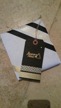 Emballage cadeau Noël masking tape