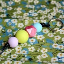 Porte-clés-géométrique-pastel-clair