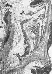 Glacier slab casting process with pigmented jesmonite.