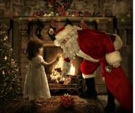 Santa Clause at Christmas Eve
