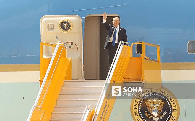 Tổng thống Donald Trump đã tới Đà Nẵng, bắt đầu tham dự Tuần lễ Cấp cao APEC