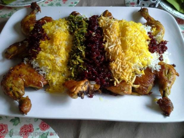Stekt kylling med berberis