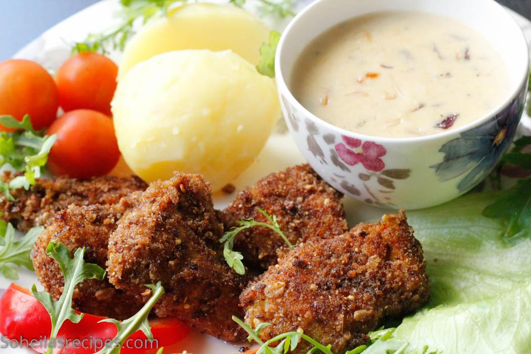 Kyllingnuggets med dip